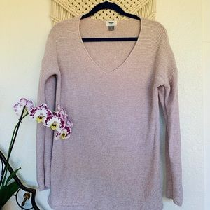 Old Navy V Neck Blush Sweater